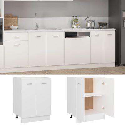 vidaXL Bottom Cabinet White 60x46x81.5 cm Chipboard