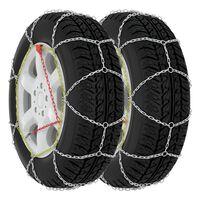 vidaXL Car Tyre Snow Chains 2 pcs 9 mm KN110