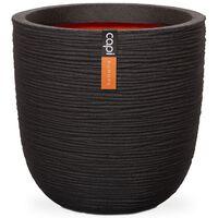 Capi Egg Planter Nature Rib 54x52 cm Black KBLR935