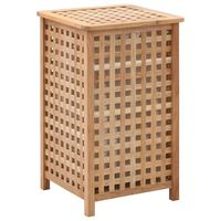 vidaXL Laundry Bin 39x39x65 cm Solid Walnut Wood