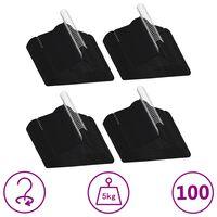 vidaXL 100 pcs Clothes Hanger Set Anti-slip Black Velvet