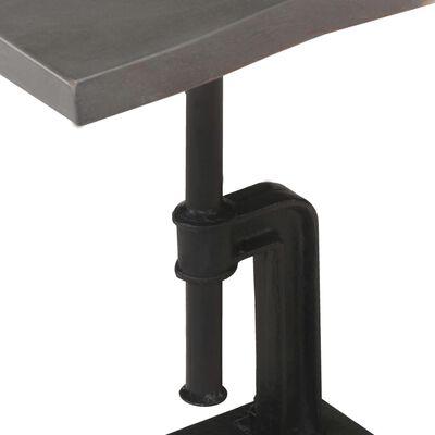 vidaXL Side Table Grey 45x35x48 cm Solid Acacia Wood & Cast Iron