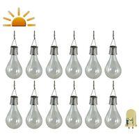 Luxform Solar LED Garden Party Lights 12 pcs Transparent 95220