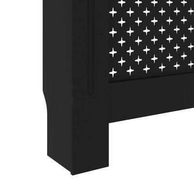 vidaXL Radiator Cover Black 152x19x81 cm MDF