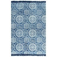 vidaXL Kilim Rug Cotton 160x230 cm with Pattern Blue
