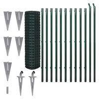 vidaXL Euro Fence Steel 25x1.5 m Green