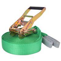 vidaXL Slackline 15 m x 50 mm 150 kg Green