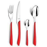Amefa 24 Piece Cutlery Set Eclat Red