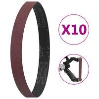 vidaXL Sanding Belts 10 pcs P100 40x760 mm