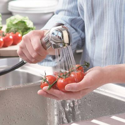 SCHÜTTE Sink Mixer with Pull-out Spray ULTRA Low Pressure Chrome