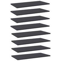 vidaXL Bookshelf Boards 8 pcs Grey 60x30x1.5 cm Chipboard