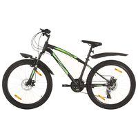 vidaXL Mountain Bike 21 Speed 26 inch Wheel 42 cm Black