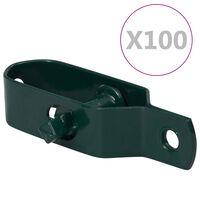vidaXL Fence Wire Tensioners 100 pcs 90 mm Steel Green