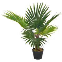 vidaXL Artificial Plant Palm with Pot Green 70 cm