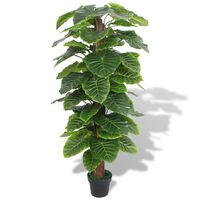 vidaXL Artificial Taro Plant with Pot 145 cm Green