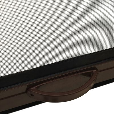 vidaXL Roll down Insect Screen for Windows Brown 80x170 cm