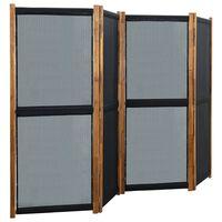 vidaXL 4-Panel Room Divider Black 280x170 cm