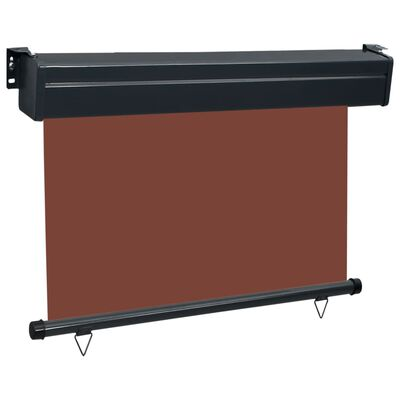 vidaXL Balcony Side Awning 80x250 cm Brown