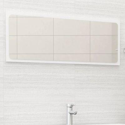 vidaXL Bathroom Mirror White 100x1.5x37 cm Chipboard