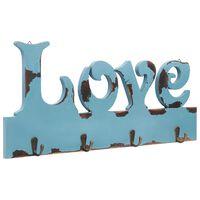 vidaXL Wall Mounted Coat Rack LOVE 50x23 cm