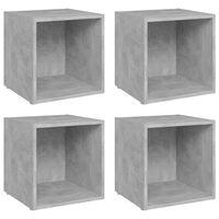 vidaXL TV Cabinets 4 pcs Concrete Grey 37x35x37 cm Chipboard