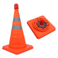 ProPlus 2 pcs Safety Cones Collapsible with LEDs