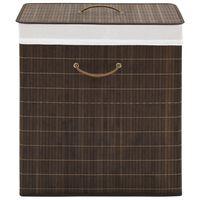 vidaXL Bamboo Laundry Bin Rectangular Dark Brown