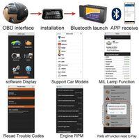 Léitheoir Cód Earráide Obd2 Bluetooth - Do Android / Windows