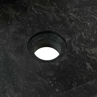 vidaXL Bathroom Vanity Cabinet Solid Teak with Sink Marble Black