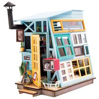 Robotime DIY Miniature Kit Wooden Hut with LED Light