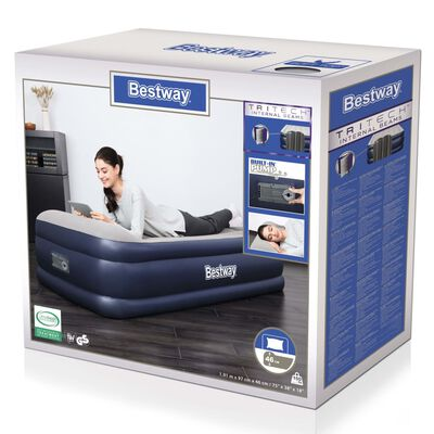 Bestway Airbed Tritech 1-Person 191x97x46 cm Blue and Grey