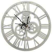 vidaXL Wall Clock  Silver 30 cm Acrylic