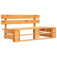 vidaXL Garden Pallet Bench Wood Honey Brown