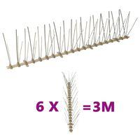 vidaXL 5-row Plastic Bird & Pigeon Spikes Set of 6 3 m