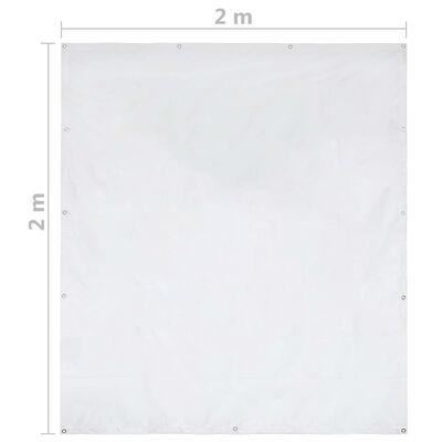 vidaXL Party Tent PVC Side Panel 2x2 m White 550 g/m²