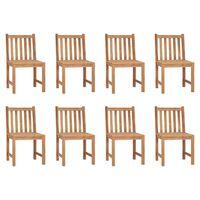 vidaXL Garden Chairs 8 pcs Solid Teak Wood