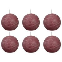 Bolsius Rustic Ball Candles 6 pcs 80 mm Old Pink