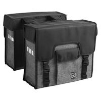 Willex Bicycle Panniers 38 L Black and Grey 10613