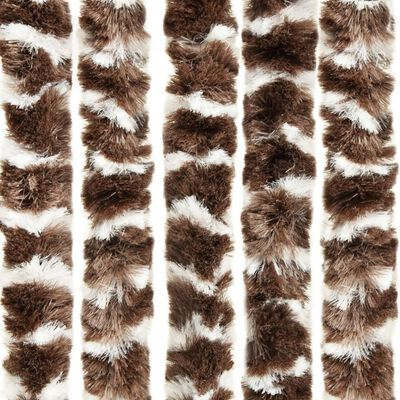 vidaXL Insect Curtain Brown and White 100x220 cm Chenille