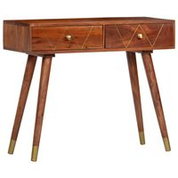 vidaXL Console Table 90x35x76 cm Solid Acacia Wood