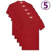 Fruit of the Loom Original T-shirts 5 pcs Red L Cotton