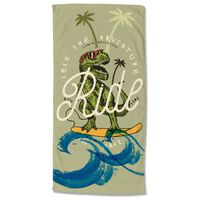 Good Morning Beach Towel SURF GEEK 75x150 cm Green