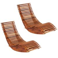 vidaXL Rocking Sun Loungers 2 pcs Acacia Wood