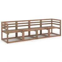 vidaXL 4 Piece Garden Pallet Sofa Set Brown Impregnated Pinewood