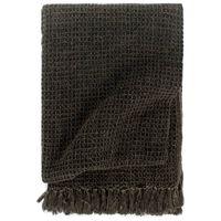 vidaXL Throw Cotton 125x150 cm Anthracite/Brown