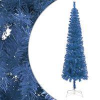 vidaXL Slim Christmas Tree Blue 120 cm