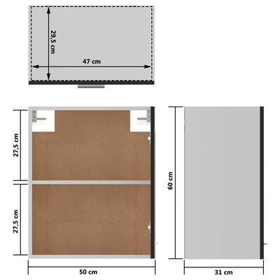 vidaXL Hanging Cabinets 2 pcs High Gloss Black 50x31x60 cm Chipboard