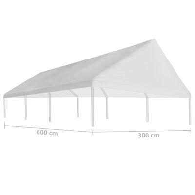 vidaXL Party Tent Roof 3 x 6 m White