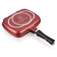 Herenthal - Double Grill Pan 34cm - Burgundy