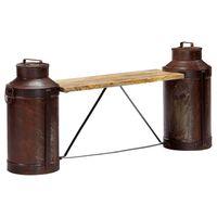 vidaXL Milk Bottle Bench 150x33x64 cm Solid Mango Wood